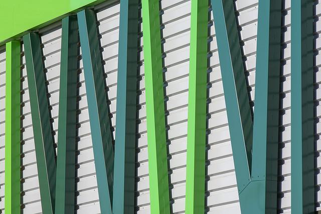 Facade with green