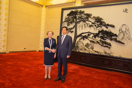 Întrevederea Președintelui Parlamentului Zinaida Greceanîi cu Președintele Comitetului Permanent al Adunării Naționale a Reprezentanților Poporului din Întreaga Chină, Li Zhanshu.