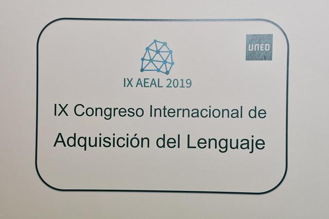 IX Congreso AEAL sobre adquisición del lenguaje (06/09/2019)