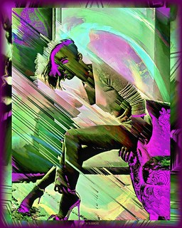 Punk in heels . . . . . #punk #punkgirl #punkhair #model #fashion #alternativetogrunge #altstyle #abstract #surrealism #abstractart #pixelsorting #pixelsorter #glitch_art #glitchartistscollective #glitchartist #abstracto #colors #acidart #trippyartwork #f