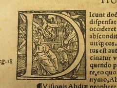 1549 Death's Dance Alphabet - D by Holbein-