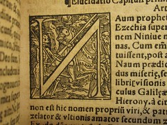 1549 Death's Dance Alphabet - N - The knight by Holbein