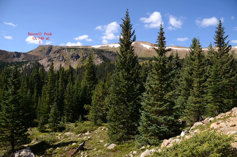 Looking southwest at Continental Diveide from from Berthoud Pass Ditch Trail