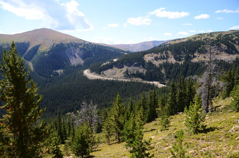 Looking down US 40 & Berthoud Pass from Berthoud Pass Ditch Trail