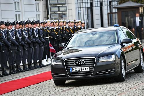 Valsts prezidenta Egila Levita oficiālā vizīte Polijā, Varšavā