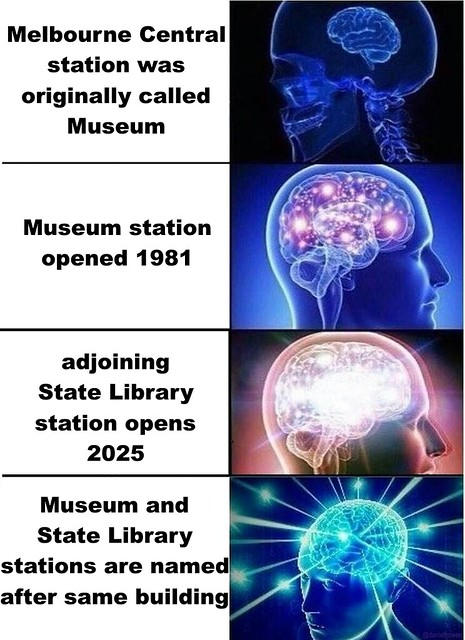 Mind blown: State Library / Museum station