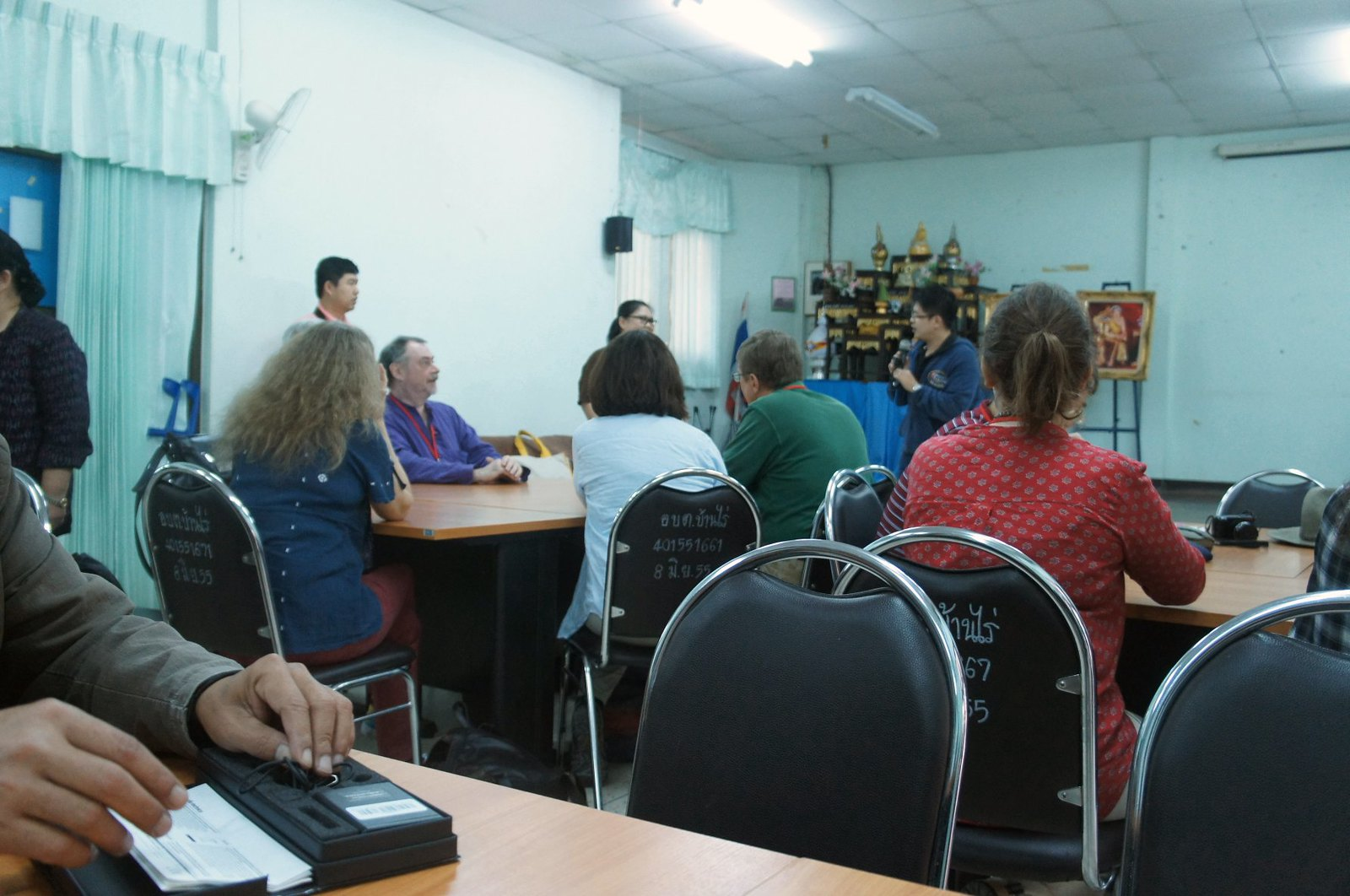 Meeting in the Nyah Kur community hall