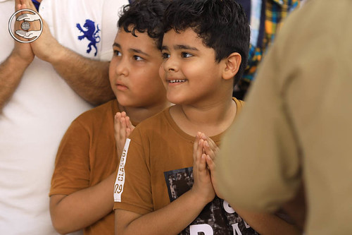 Child devotees delighted on seeking blessings