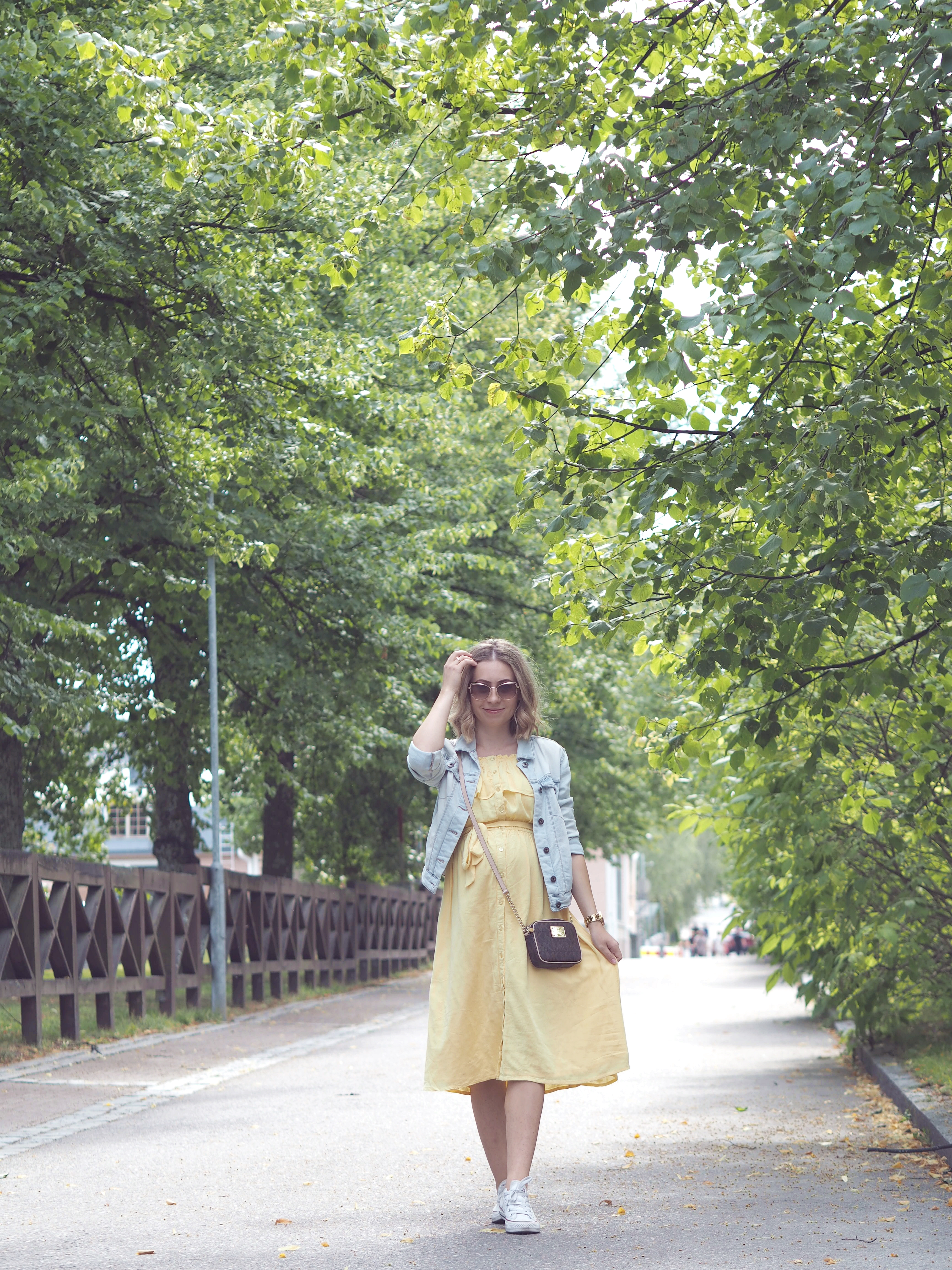 pastel yellow summer dress
