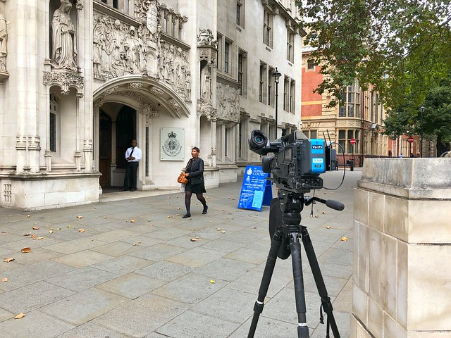 Solitary Camera Outside UK Supreme Court