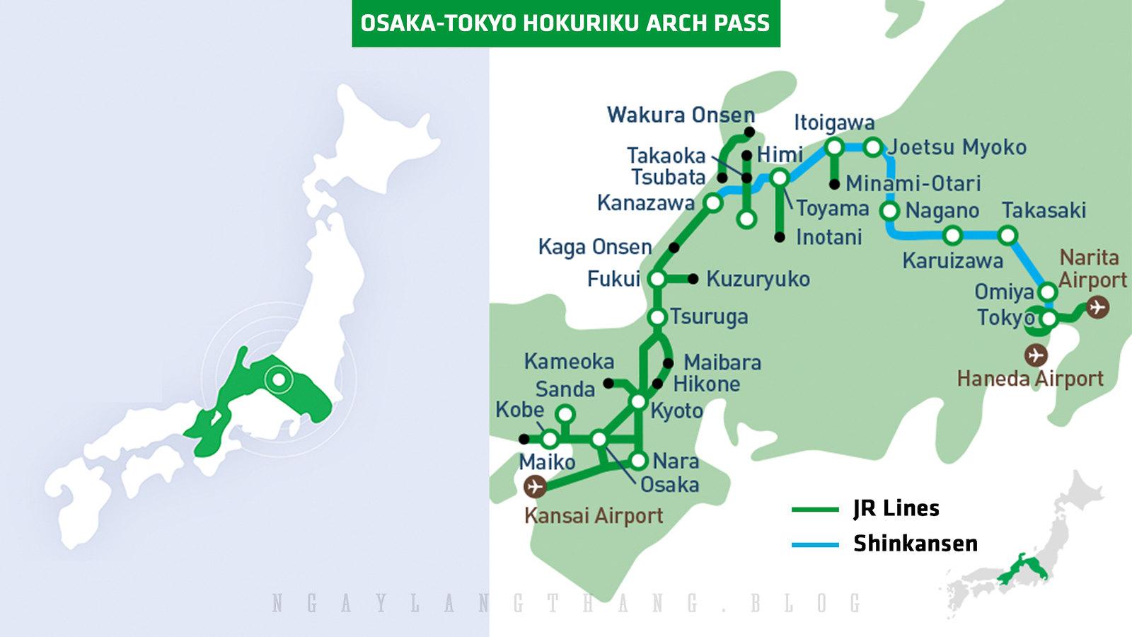 Osaka-Tokyo Hokuriku Arch Pass-1