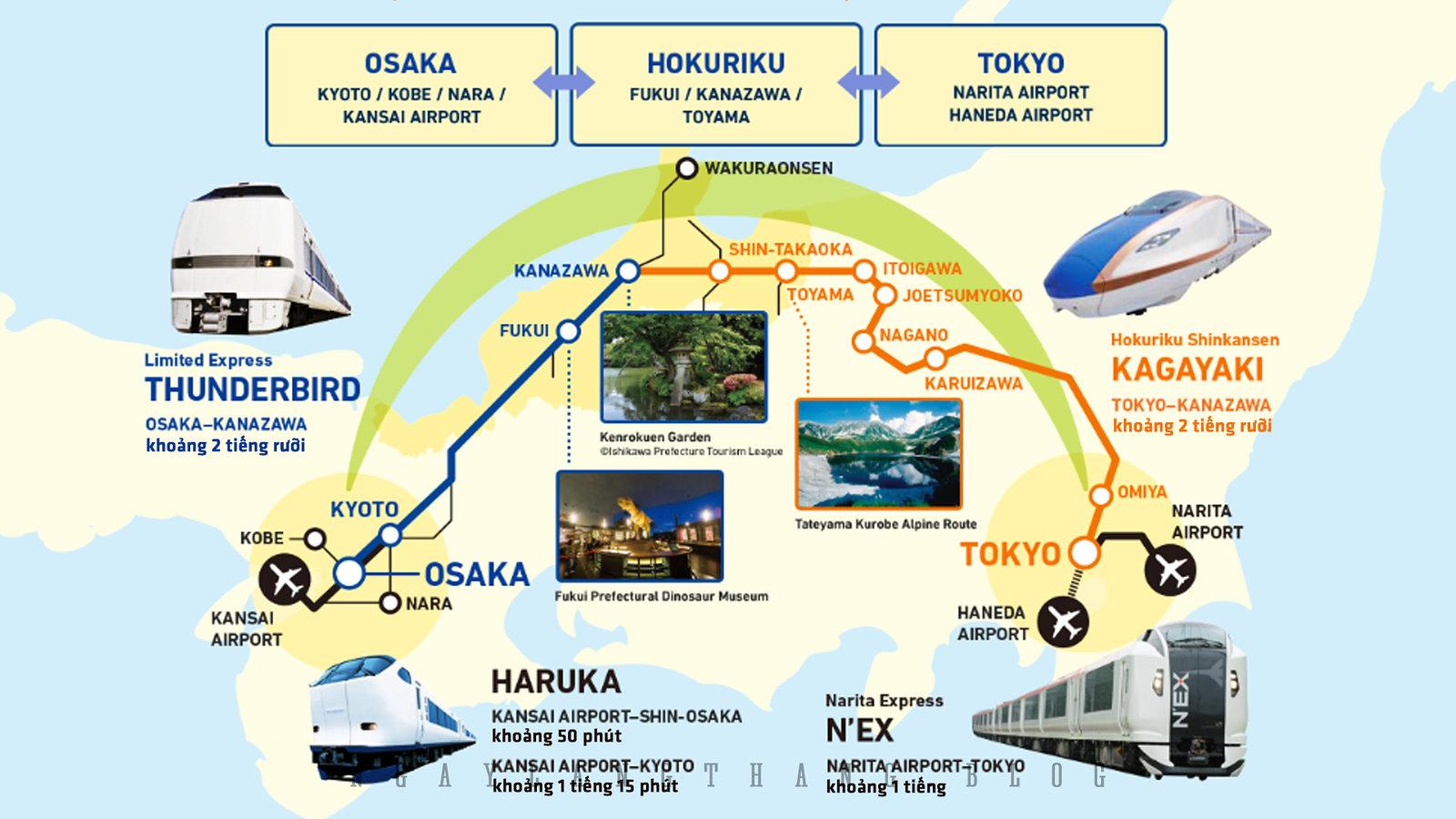 Osaka-Tokyo Hokuriku Arch Pass-ngaylangthang