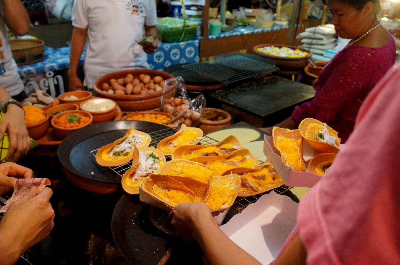 Omelette wraps