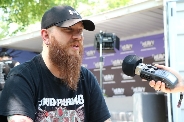 Killswitch Engage guitarist Joel Stroetzel at Heavy Montréal (Parc Jean-Drapeau (Montreal, Quebec) on July 28, 2019