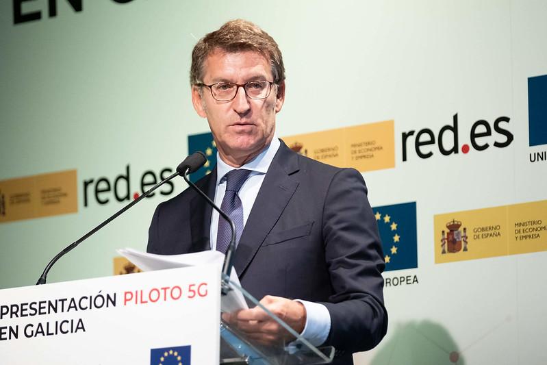 O presidente da Xunta participou esta mañá na presentación do Piloto 5G
