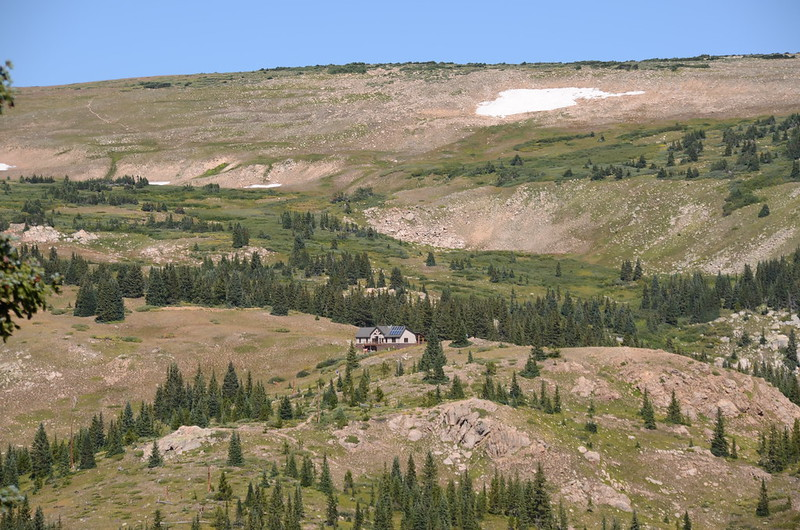 Overlook of Broome Hut from Berthoud Pass Ditch (2)