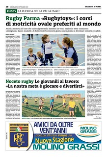 Gazzetta di Parma 11.09.19 - Rugbytots