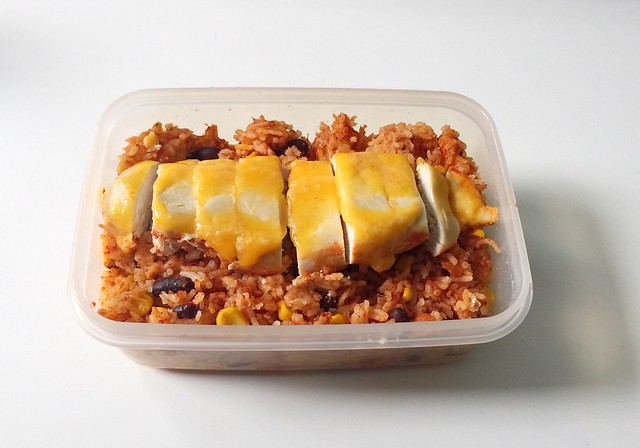 Mexican chicken rice casserole - Leftovers / Mexikanischer Hähnchen-Reis-Auflauf - Resteverbrauch