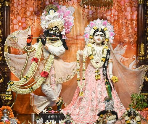 Hare Krishna Temple Ahmedabad Deity Darshan 11 Sep 2019