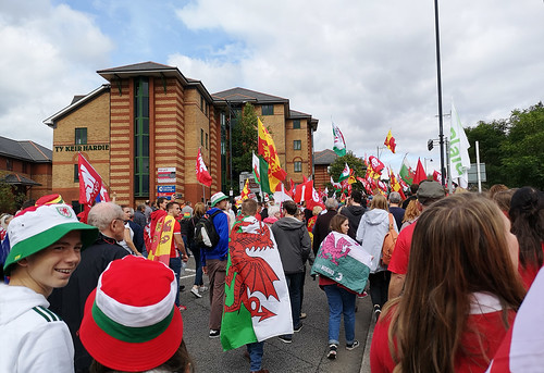 On the march past Ty Keir Hardie