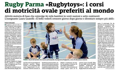 Gazzetta di Parma 11.09.19 - Rugbytots x sito
