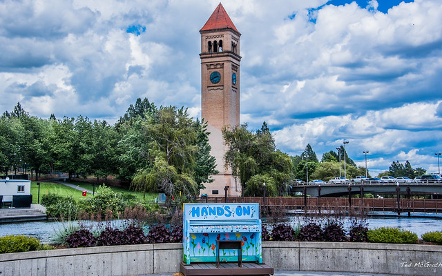 2019 - Road Trip - 10 - Spokane Riverfront Park - Great Northern Clocktower