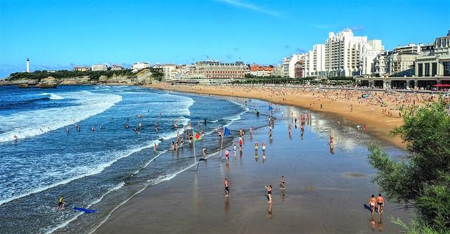 Biarritz. La Grande Plage.