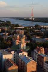 Daugava River and Riga TV Tower