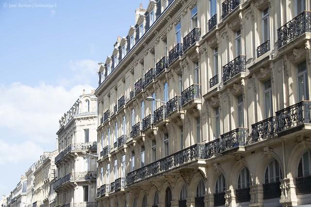 Kaunis katu Bordeaux'n vanhassa keskustassa