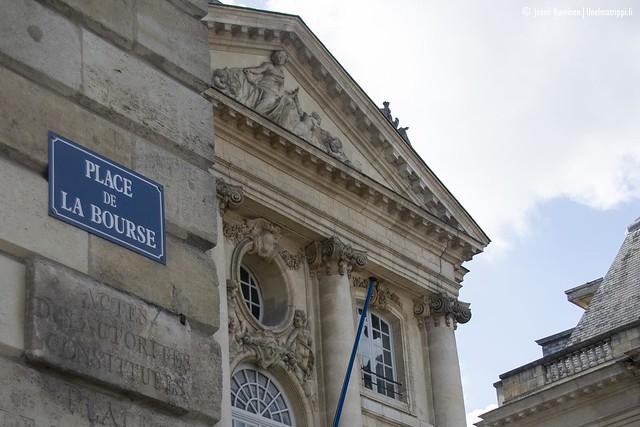Place de la Boursen kulmalla