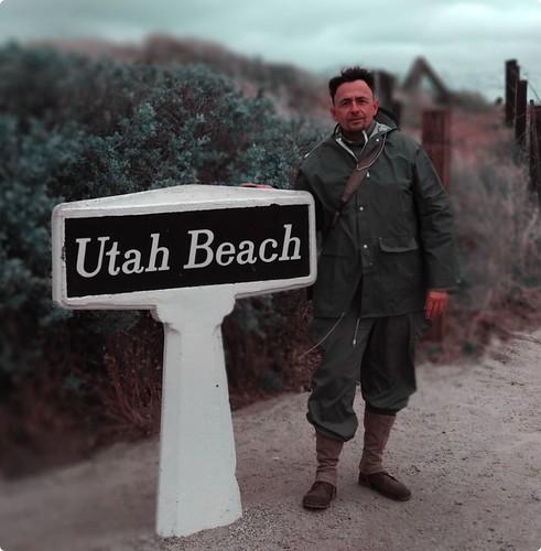 Jesus Hernandez en Utah Beach