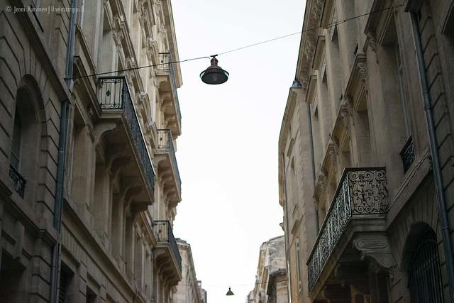 Bordeaux'n vanhan keskustan taloja