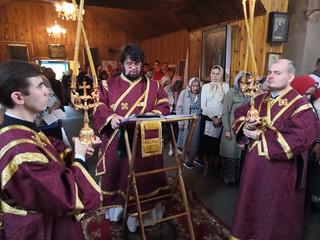 11.09.2019 | Освящение поклонного Креста в Малой Вишере