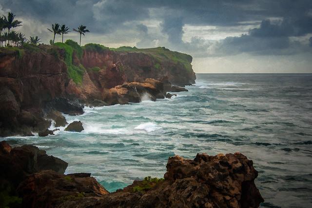 Poipu Cliffs - Textured