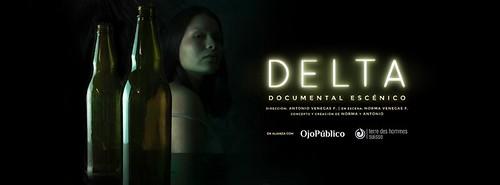 """Afiche de """"Delta"""", documental escénico. (Captura de pantalla de la página de Facebook)."""