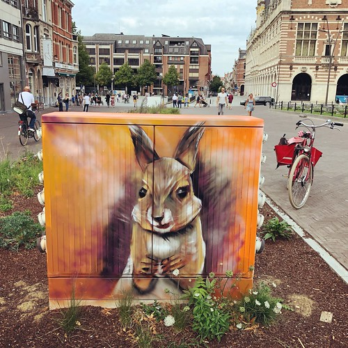 beautiful streetart in Leuven city