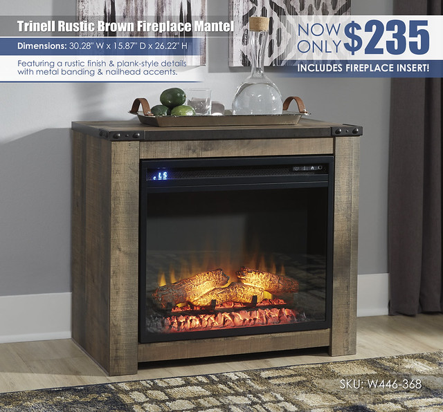 Trinell Rustic Brown Fireplace Mantel_W446-368-ON-ALT