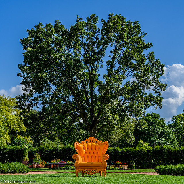 Empty Orange Chair