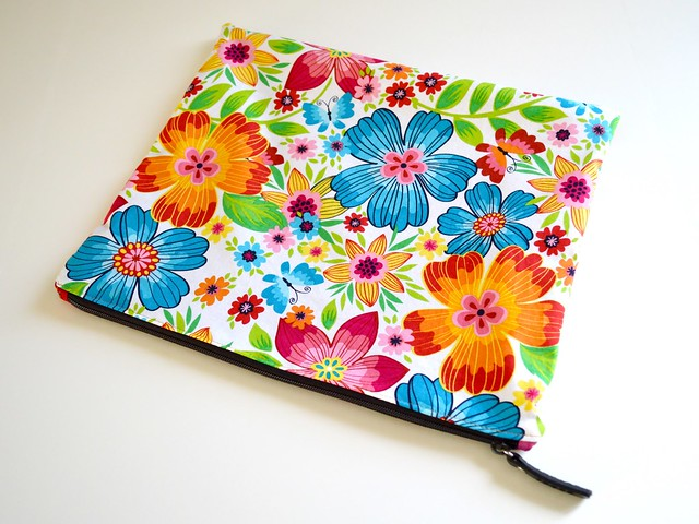 Large Zippered Document Pouch Finished