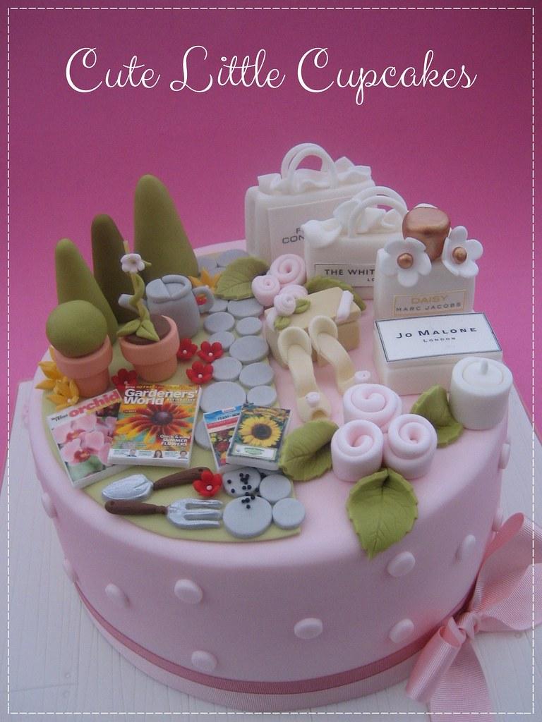 Fine Split Design 50Th Birthday Cake A Photo On Flickriver Personalised Birthday Cards Veneteletsinfo