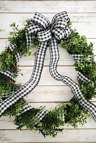 Cozy rustic boxwood wreath