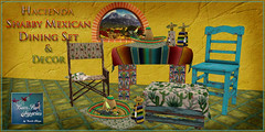 Hacienda Shabby Mexican Dinng Set