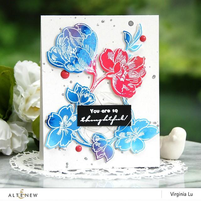 Altenew-WatercolorBrushMarkerRefills-PenSketchedFlowers-Virginia#2