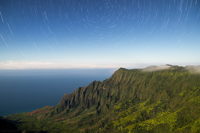 Star Trails Over Kalalau Valley