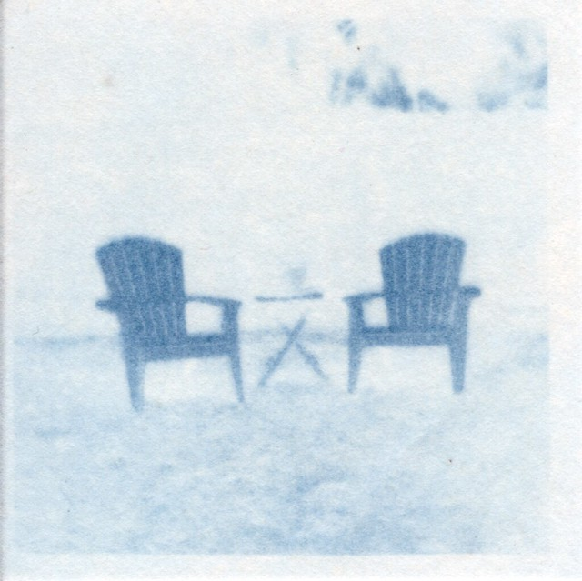 In Camera Cyanotype Negative