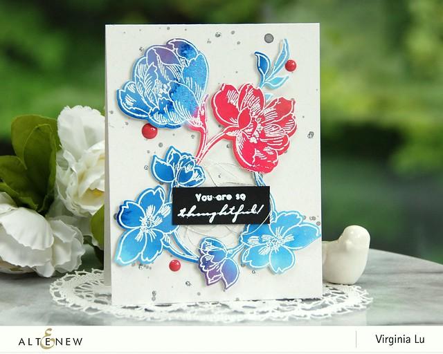 Altenew-WatercolorBrushMarkerRefills-PenSketchedFlowers-Virginia#1