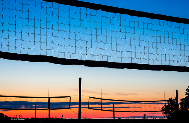 Before sunrise at Ashbridges Bay volleyball courts