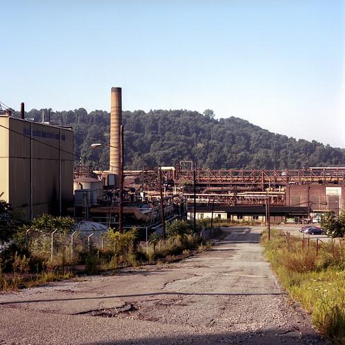 weirton westvirginia unitedstatesofamerica steelmill rustbelt mediumformat weirtonsteel hasselblad film