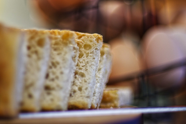 sliced, fresh bread