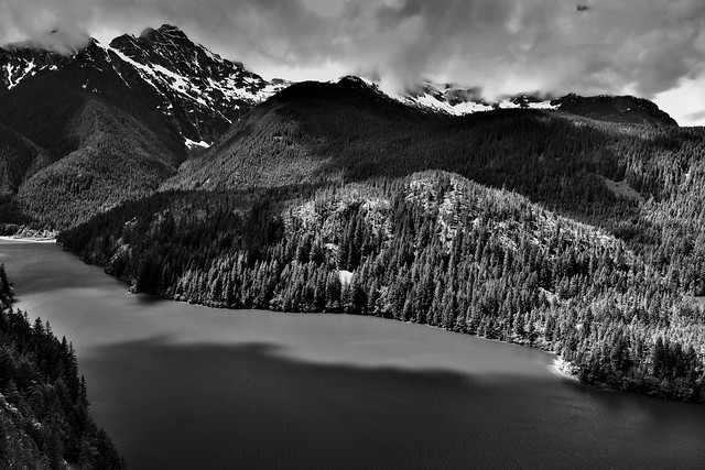 I Got the Image I Wanted! (Black & White, North Cascades National Park Service Complex)